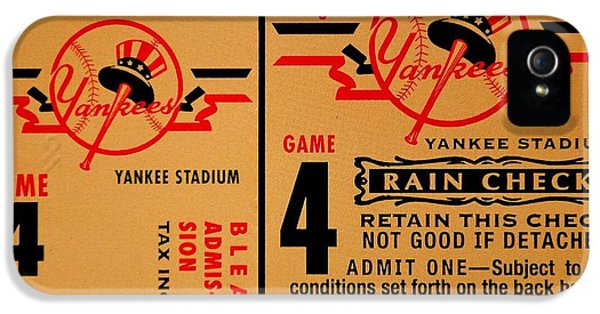 Yankees 4th Straight - Vintage IPhone 5 Case by Benjamin Yeager