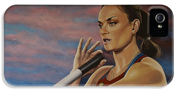 Yelena Isinbayeva   IPhone 5 Case by Paul Meijering