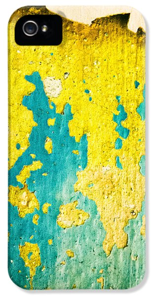 IPhone 5 Case featuring the photograph Yellow And Green Abstract Wall by Silvia Ganora