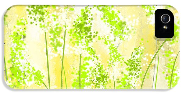 Yellow And Green Art IPhone 5 / 5s Case by Lourry Legarde