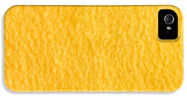 Yellow Fleece IPhone 5 Case by Tom Gowanlock