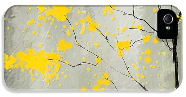 Yellow Foliage Impressionist IPhone 5 Case