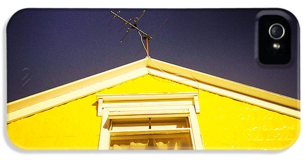 House iPhone 5 Case - Yellow House In Akureyri Iceland by Matthias Hauser