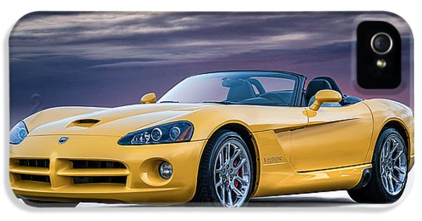 Yellow Viper Convertible IPhone 5 Case by Douglas Pittman