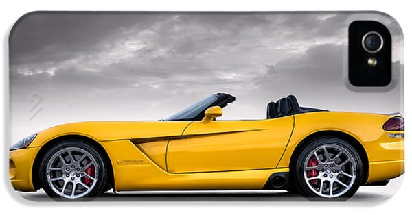 Yellow Viper Roadster IPhone 5 Case by Douglas Pittman