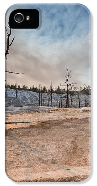 Yellowstone Desolation IPhone 5 Case by Andres Leon