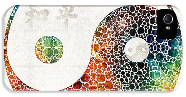 Yin And Yang - Colorful Peace - By Sharon Cummings IPhone 5 Case by Sharon Cummings
