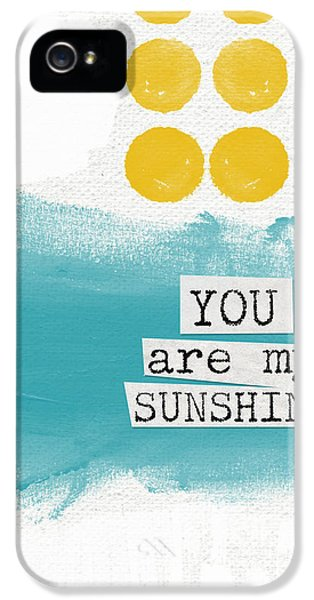 You Are My Sunshine- Abstract Mod Art IPhone 5 Case by Linda Woods
