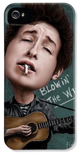 Young Bob Dylan IPhone 5 / 5s Case by Andre Koekemoer