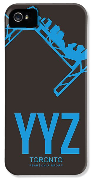 Yyz Toronto Airport Poster 2 IPhone 5 Case by Naxart Studio