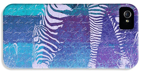 Zebra iPhone 5 Case - Zebra Art - Bp02t01 by Variance Collections