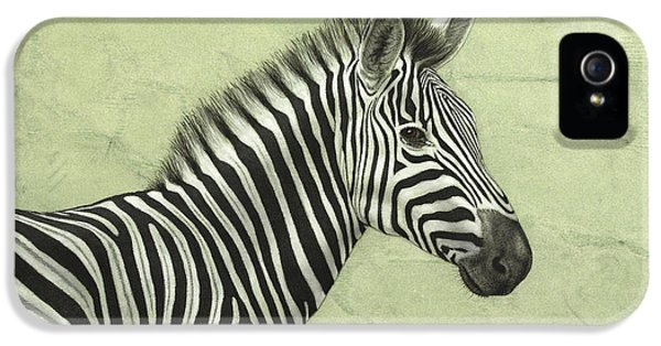Zebra IPhone 5 Case by James W Johnson