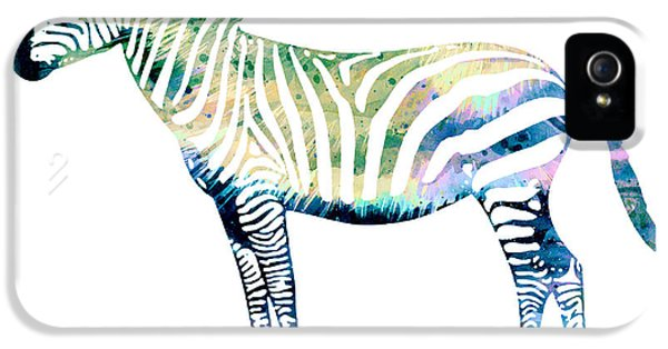 Zebra  IPhone 5 Case by Watercolor Girl