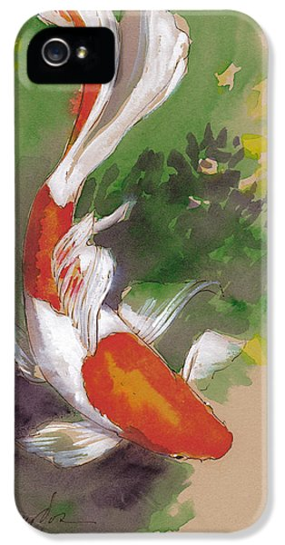 Koi iPhone 5 Case - Zen Comet Goldfish by Tracie Thompson