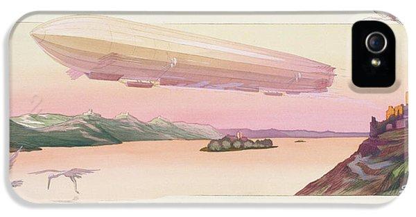Zeppelin, Published Paris, 1914 IPhone 5 / 5s Case by Ernest Montaut