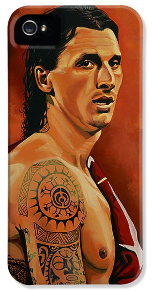 Zlatan Ibrahimovic Painting IPhone 5 Case by Paul Meijering