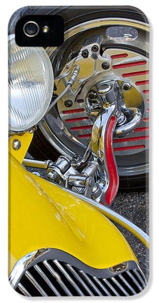1929 Ford Model A Roadster Wheel IPhone 5 Case by Jill Reger