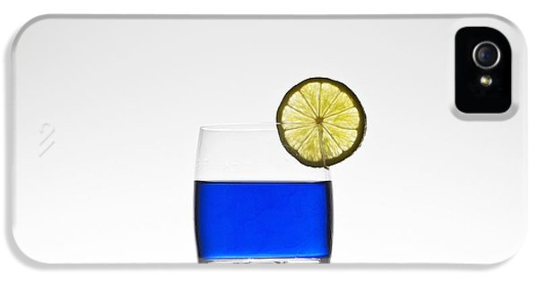 Blue Cocktail With Lemon IPhone 5 Case by Joana Kruse