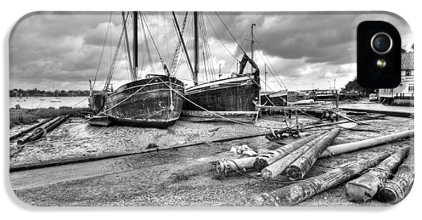 Boats And Logs At Pin Mill  IPhone 5 Case