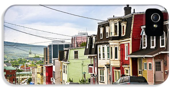 Colorful Houses In Newfoundland IPhone 5 Case by Elena Elisseeva