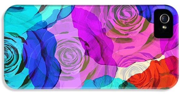 Colorful Roses Design IPhone 5 Case by Setsiri Silapasuwanchai