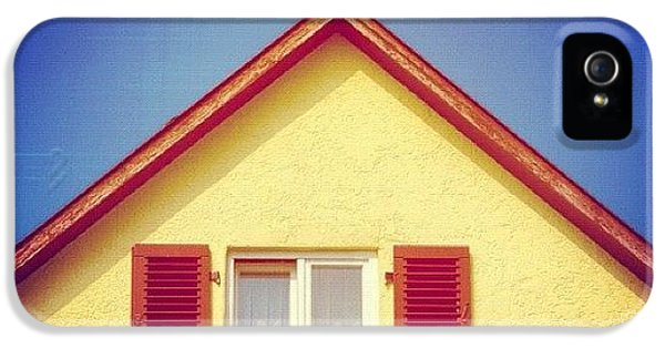 House iPhone 5 Case - Gable Of Beautiful House In Front Of Blue Sky by Matthias Hauser