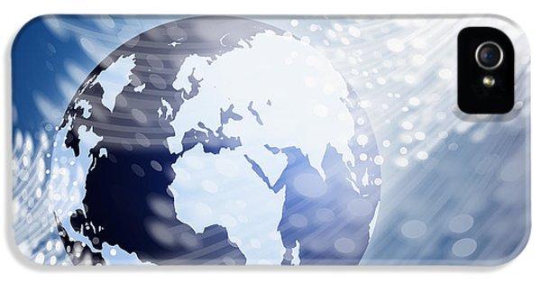 Globe With Fiber Optics IPhone 5 / 5s Case by Setsiri Silapasuwanchai
