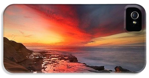 iPhone 5 Case - Long Exposure Sunset In La Jolla by Larry Marshall