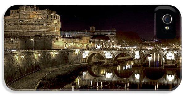 Rome Ponte San Angelo IPhone 5 Case by Joana Kruse