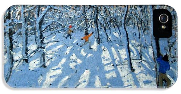 Winter Woodland Near Newhaven Derbyshire IPhone 5 Case