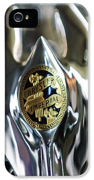 1931 Chrysler Cg Imperial Roadster Grille Emblem 2 IPhone 5 Case by Jill Reger