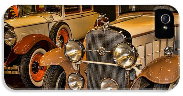 1931 La Salle Series 345r And 1929 Packard Roadster IPhone 5 Case by Douglas Barnard