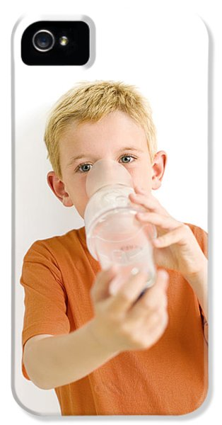 Breathe iPhone 5 Case - Boy Using An Asthma Spacer by Ian Boddy