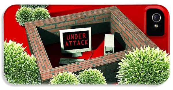 Computer Virus Attack, Computer Artwork IPhone 5 Case