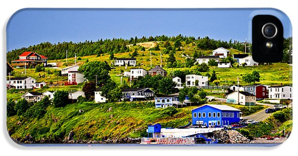 Town iPhone 5 Case - Fishing Village In Newfoundland by Elena Elisseeva