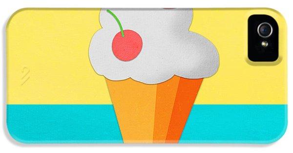 Ice Cream On Hand Made Paper IPhone 5 Case by Setsiri Silapasuwanchai
