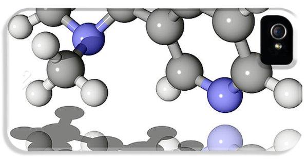 Nicotine Molecule IPhone 5 Case by Laguna Design