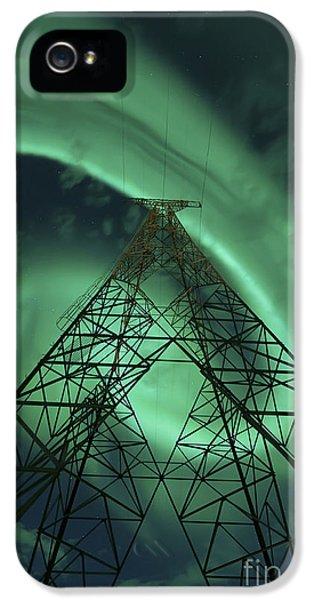 Powerlines And Aurora Borealis IPhone 5 Case