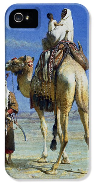 A Bedoueen Family In Wady Mousa Syrian Desert IPhone 5 Case by Carl Haag
