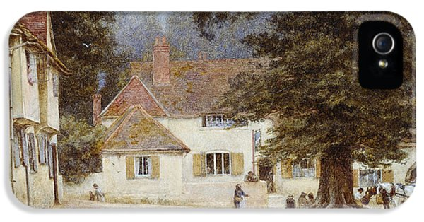 A Cart By A Village Inn IPhone 5 / 5s Case by Helen Allingham