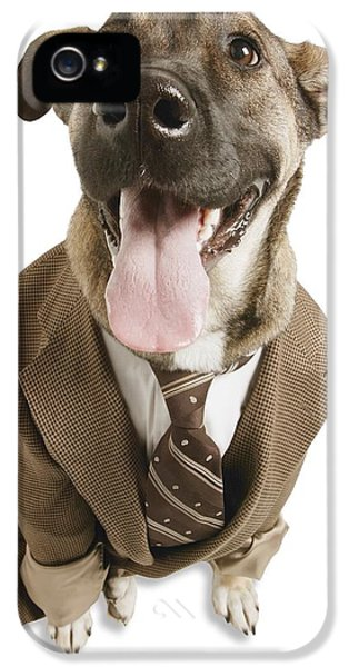 Breathe iPhone 5 Case - A Dog With A Suit by Don Hammond