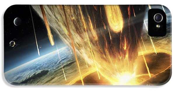 A Giant Asteroid Collides IPhone 5 Case by Tobias Roetsch