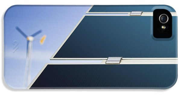 A Row Of Solar Panels Tilted Solar IPhone 5 Case