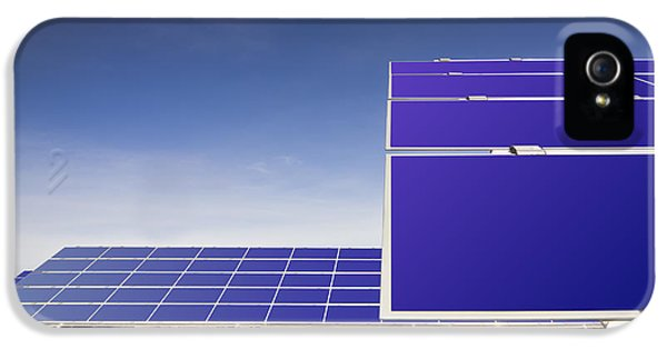 A Row Of Solar Panels Tilted To Catch IPhone 5 Case