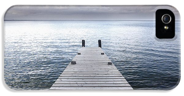 A Wooden Jetty Reaching IPhone 5 Case