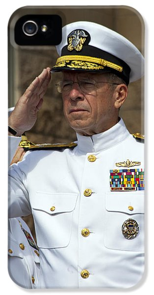 Admiral Michael Mullen Salutes IPhone 5 Case by Michael Wood