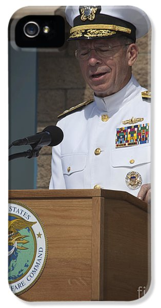 Admiral Mike Mullen Speaks IPhone 5 Case by Michael Wood