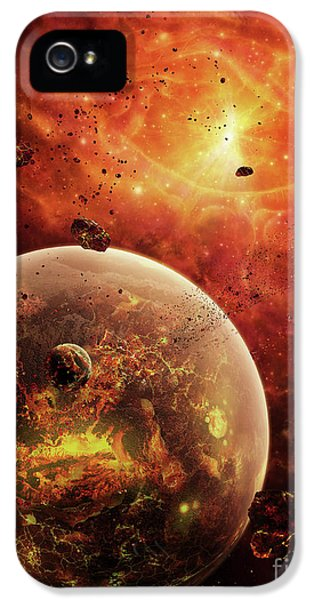 An Eye-shaped Nebula And Ring IPhone 5 Case by Brian Christensen