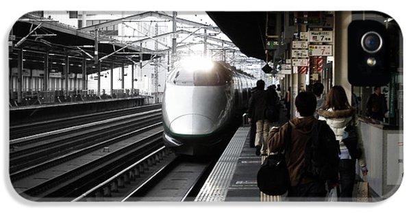 Train iPhone 5 Case - Arriving Train by Naxart Studio