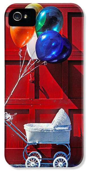 Baby Buggy With Balloons  IPhone 5 Case by Garry Gay